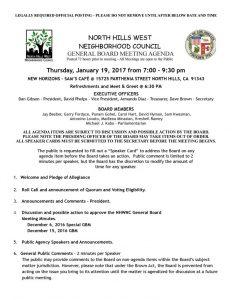 thumbnail of January 19, 2017 Genreal Board Meeting Agenda