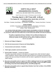 thumbnail of NHWNC Special Board Meeting Agenda March 2, 2017