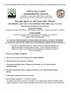 thumbnail of March 16, 2017 General Board Meeting Agenda