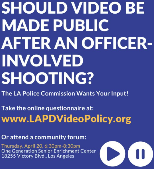 Community Forum on LAPD Video Policy