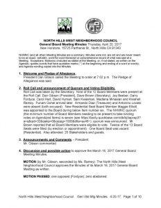 thumbnail of April 20, 2017 General Board Meeting Minutes