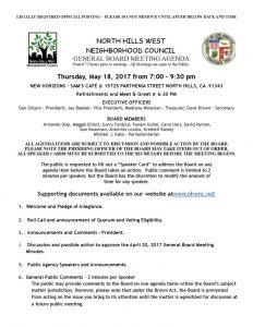 thumbnail of May 18, 2017 NHWNC GBM Agenda