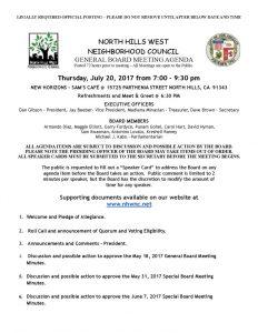 thumbnail of July 20, 2017 NHWNC General Board Meting Agenda