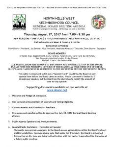 thumbnail of August 17, 2017 NHWNC GBM Agenda