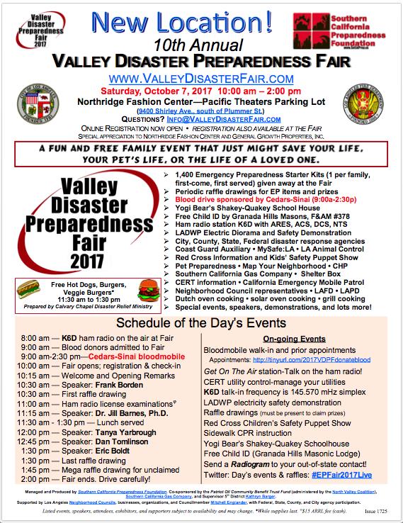 10th Annual Valley Disaster Preparedness Fair