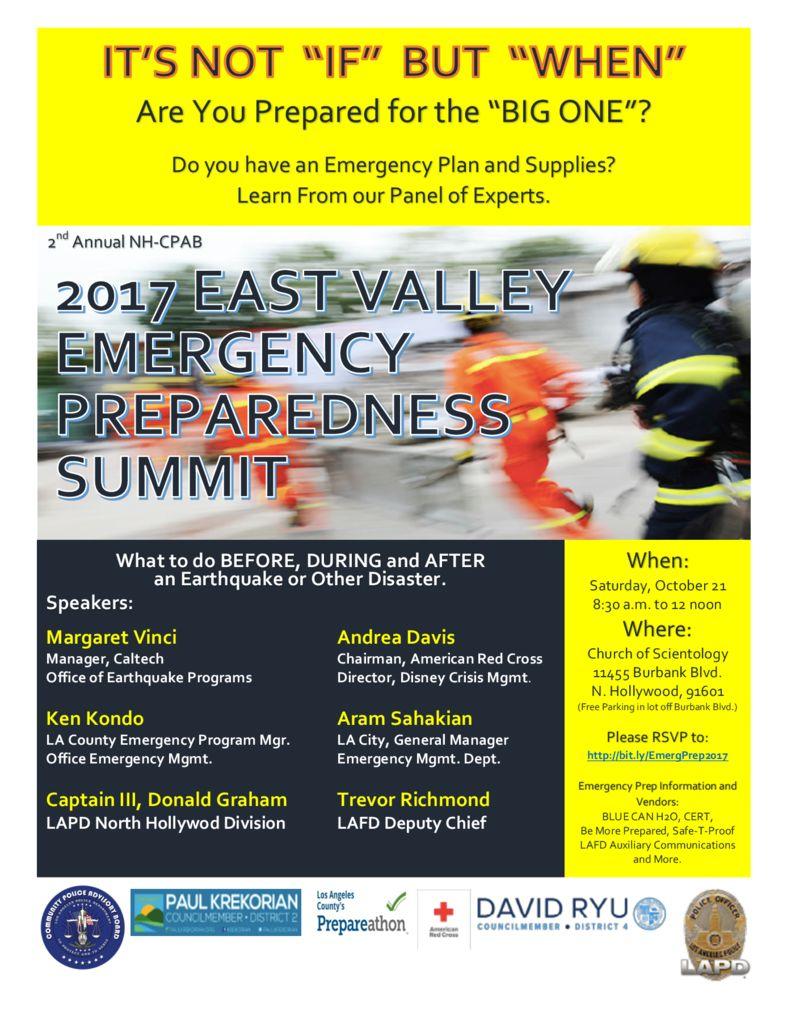 East Valley Preparedness Summit