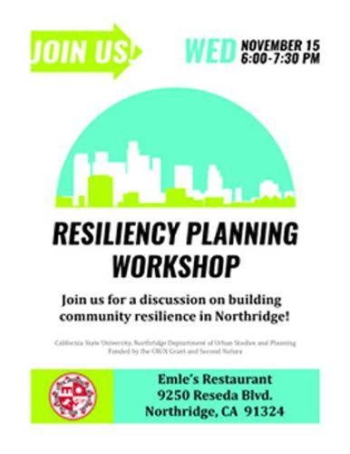 Resiliency Plan & Stakeholder Workshop