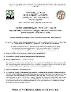 thumbnail of December 5, 2017 PLUM Meeting Agenda