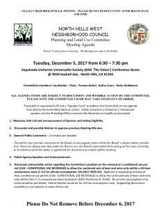 thumbnail of December 5, 2017 PLUM Meeting Agenda