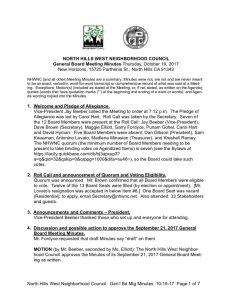 thumbnail of October 19, 2017 General Board Meeting Minutes