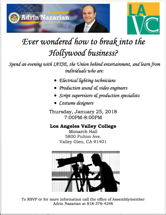 IATSE intro to Hollywood at LA Valley College