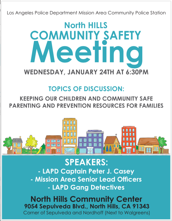 North Hills Community Safety Meeting