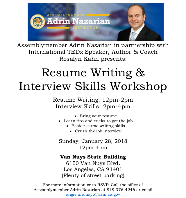 Resume Writing Interview Skills Workshop North Hills West