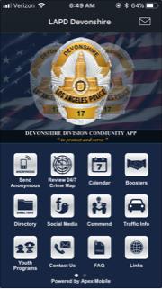 LAPD Devonshire app