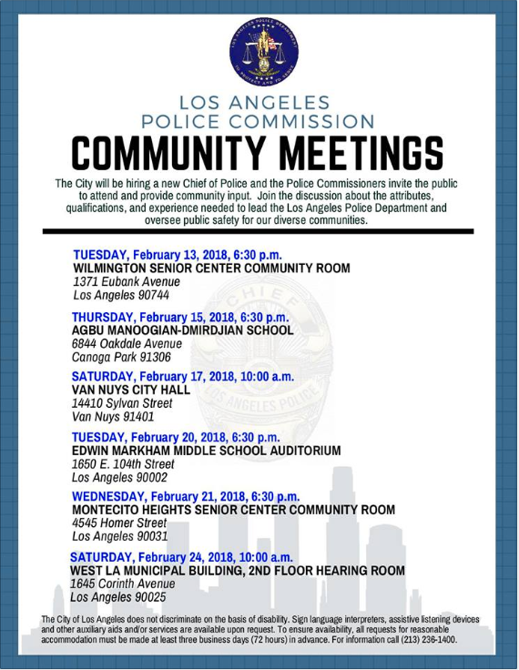 Police Commission Community Meetings