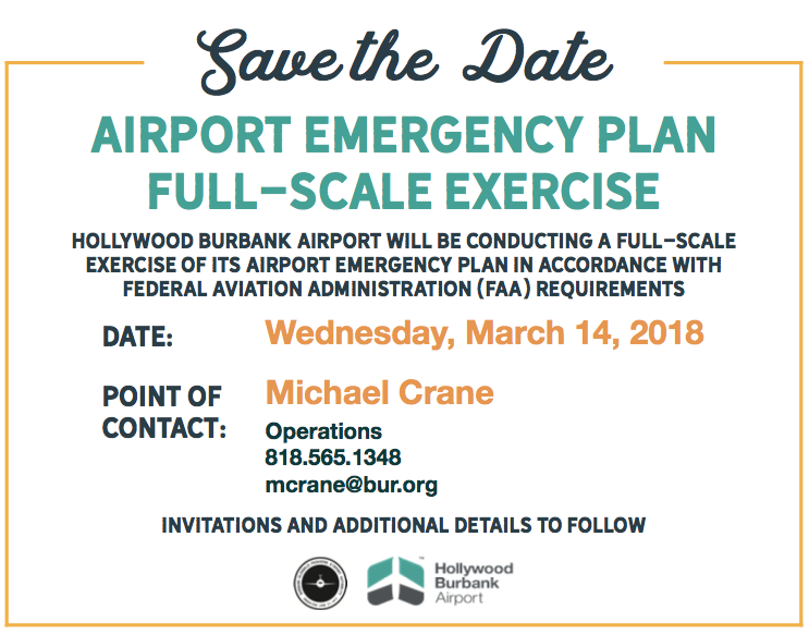BUR airport emergency plan exercise