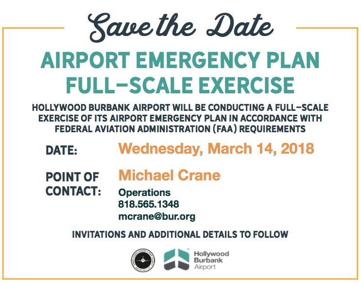 BUR airport emergency plan exercise