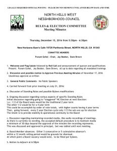 thumbnail of December 15, 2016 Rules & Elections Committee Minutes