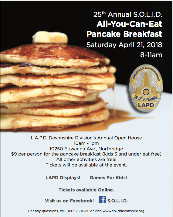 SOLID 25th Annual Pancake Breakfast
