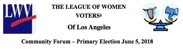 League of Women Voters Primary Forum