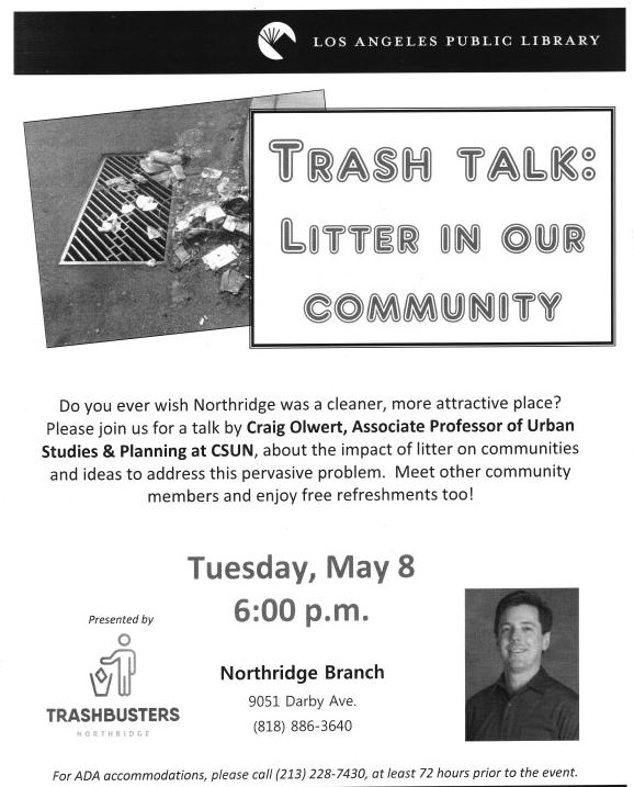 Trashbusters meeting at Northridge Library