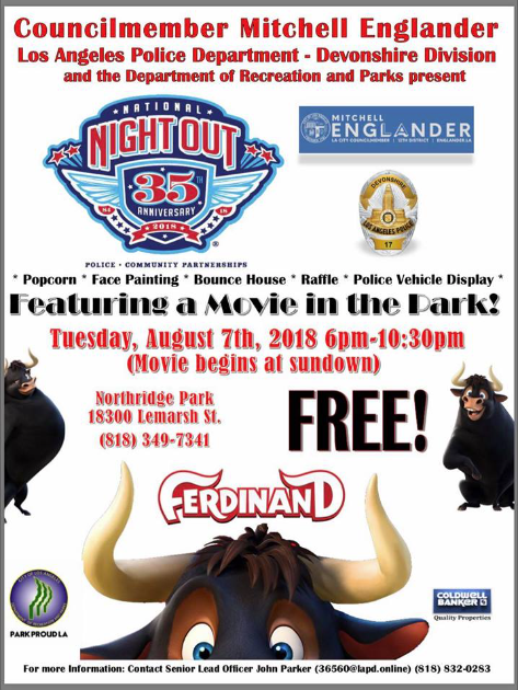 National Night Out Movie Night