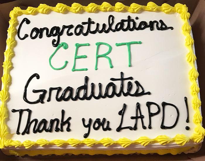 LAPD CERT Graduation Cake