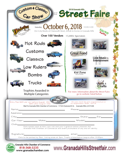 2018 Granada Hills street Faire Car Show