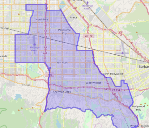 District Map Assemblymember Adrin Nazarian