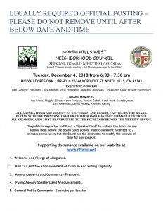 thumbnail of NHWNC Special Meeting Agenda December 20, 2018