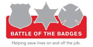 Battle of the Badges Blood Drive logo