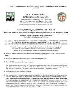 thumbnail of February 11, 2019 NHWNC PLUM Meeting Agenda