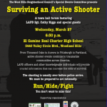 Active Shooter flyer