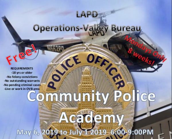 LAPD Community Police Academy flyer