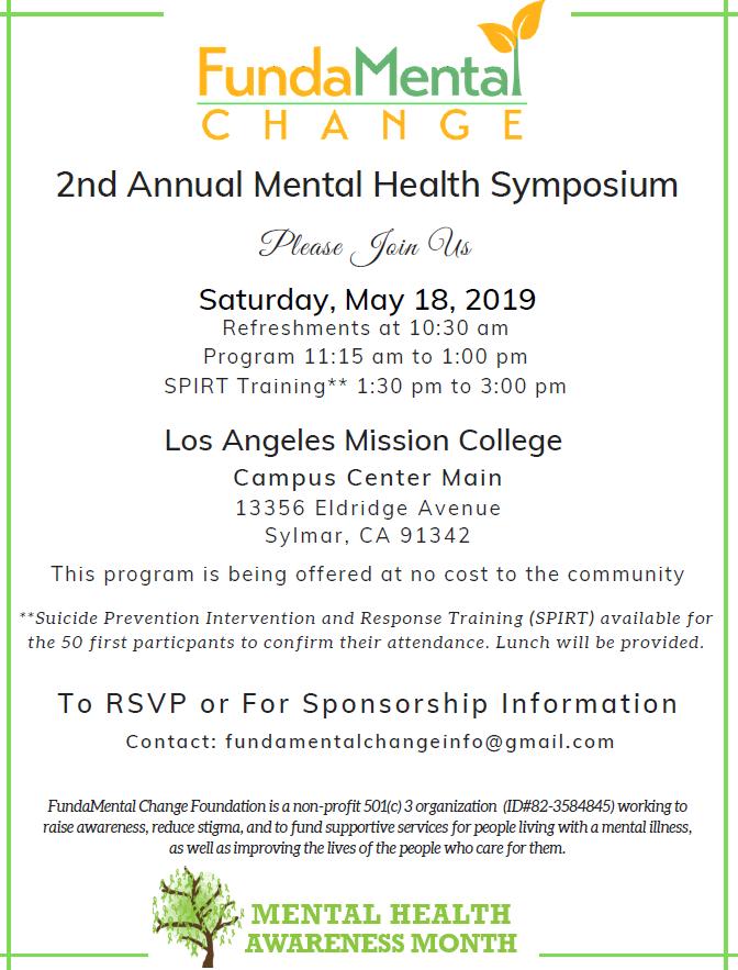 FundaMental Change 2nd Annual Mental Health Symposium