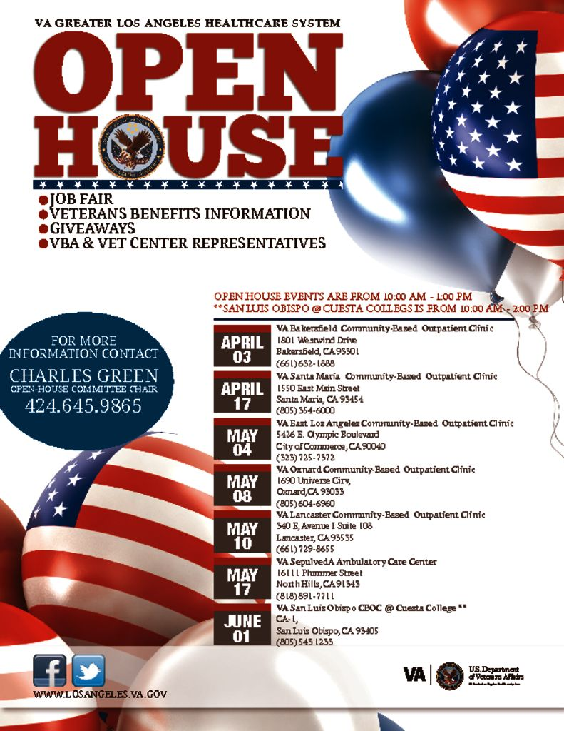 Veteran's Open House May 17th
