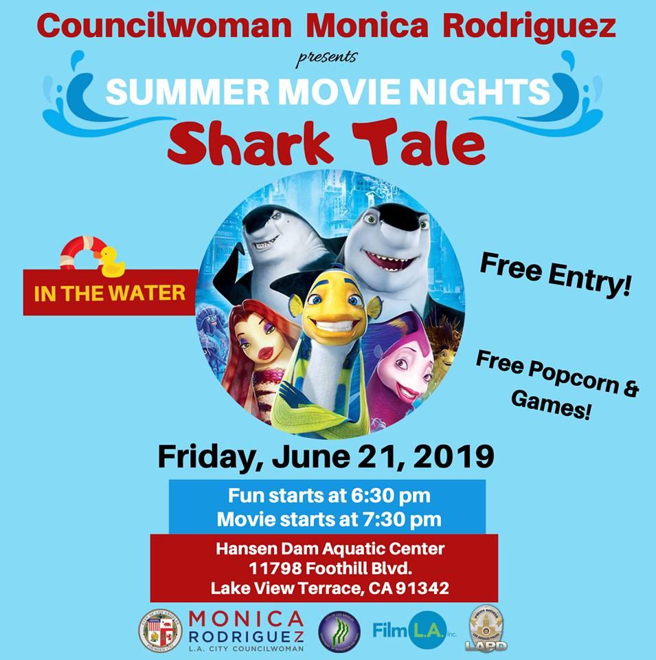 Summer movie nights shark tale