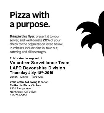 flyer: California Pizza kitchen