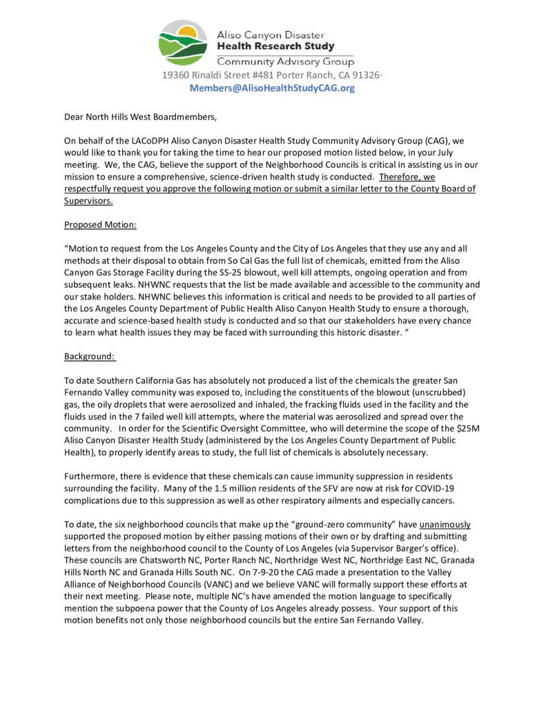 thumbnail of NHWNC Alison Cyn Disaster – Health Research Study – Community Advisory Group letter 7-10-20