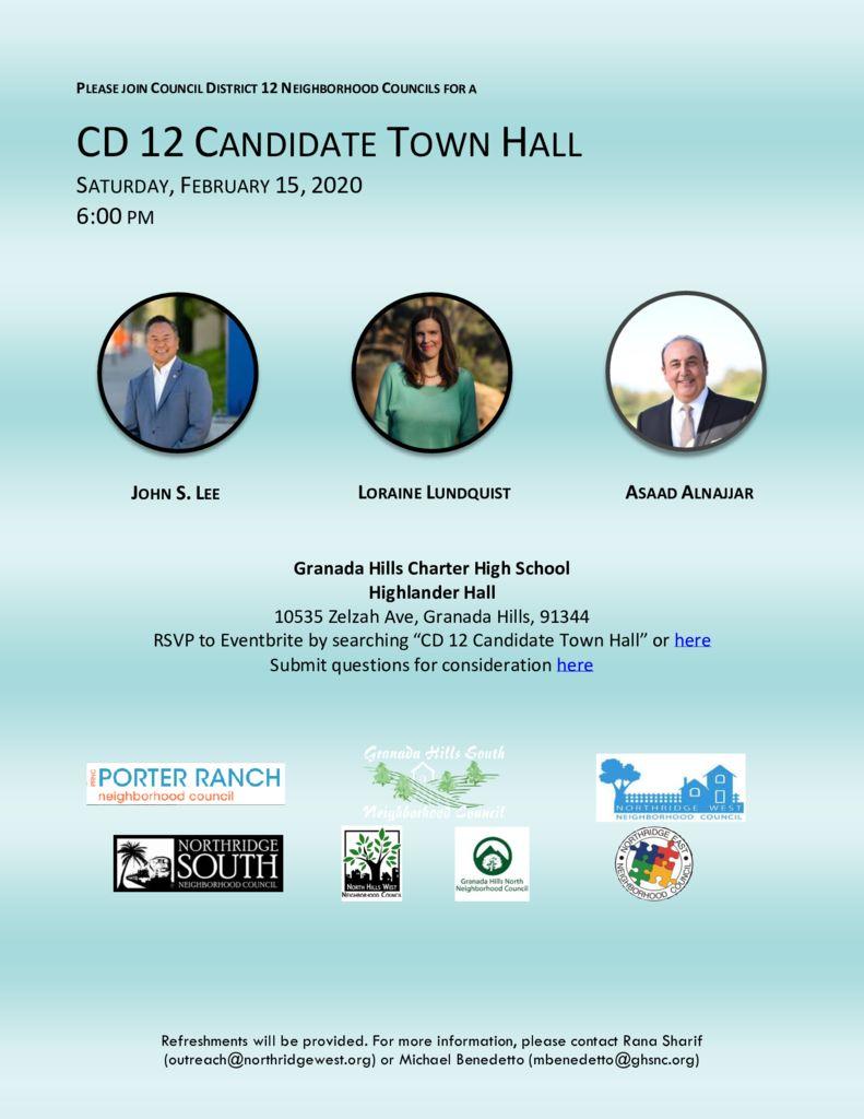 CD 12 Town Hall