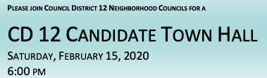 Council District 12 Town Hall