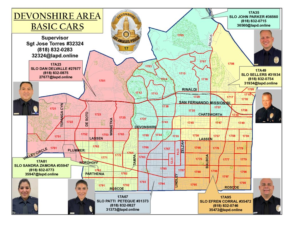 thumbnail of Area Basic Car Map and Contact List March 2020