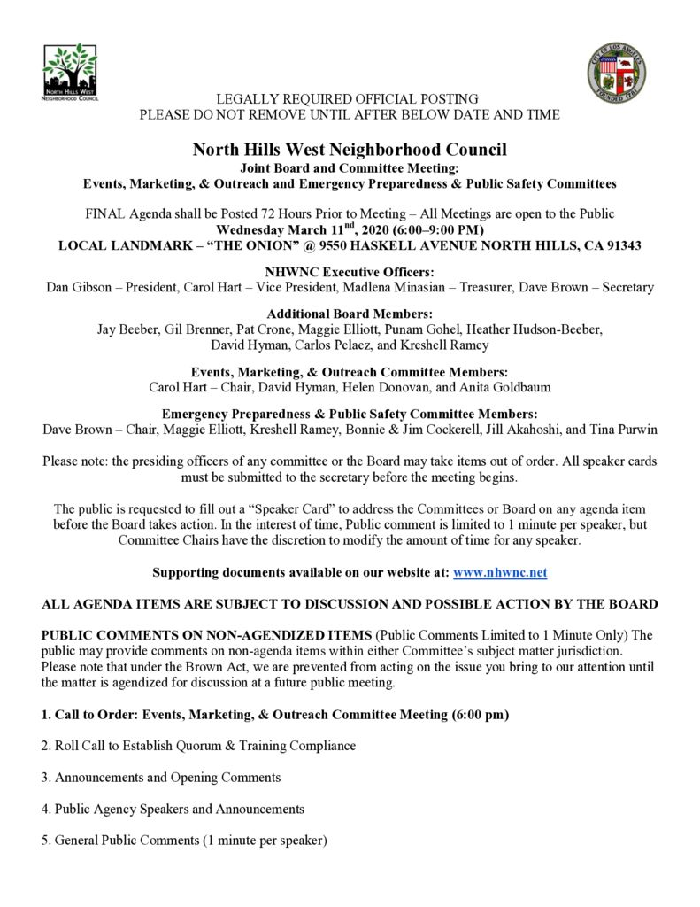 thumbnail of 2020.03.11 Joint Board, EP&PS and EM&O Committee Meeting Agenda (added virus update)