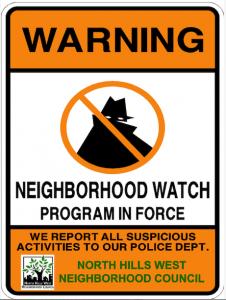 NHWNC Neighborhood Watch sign