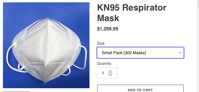 KN95 mask picture