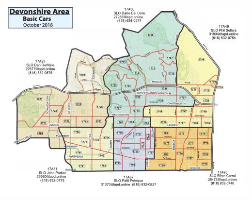 Devonshire PD map