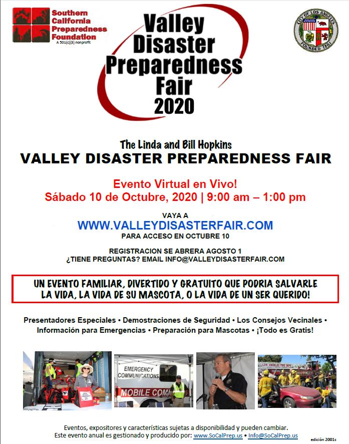 Valley Disaster Preparedness Fair Spanish