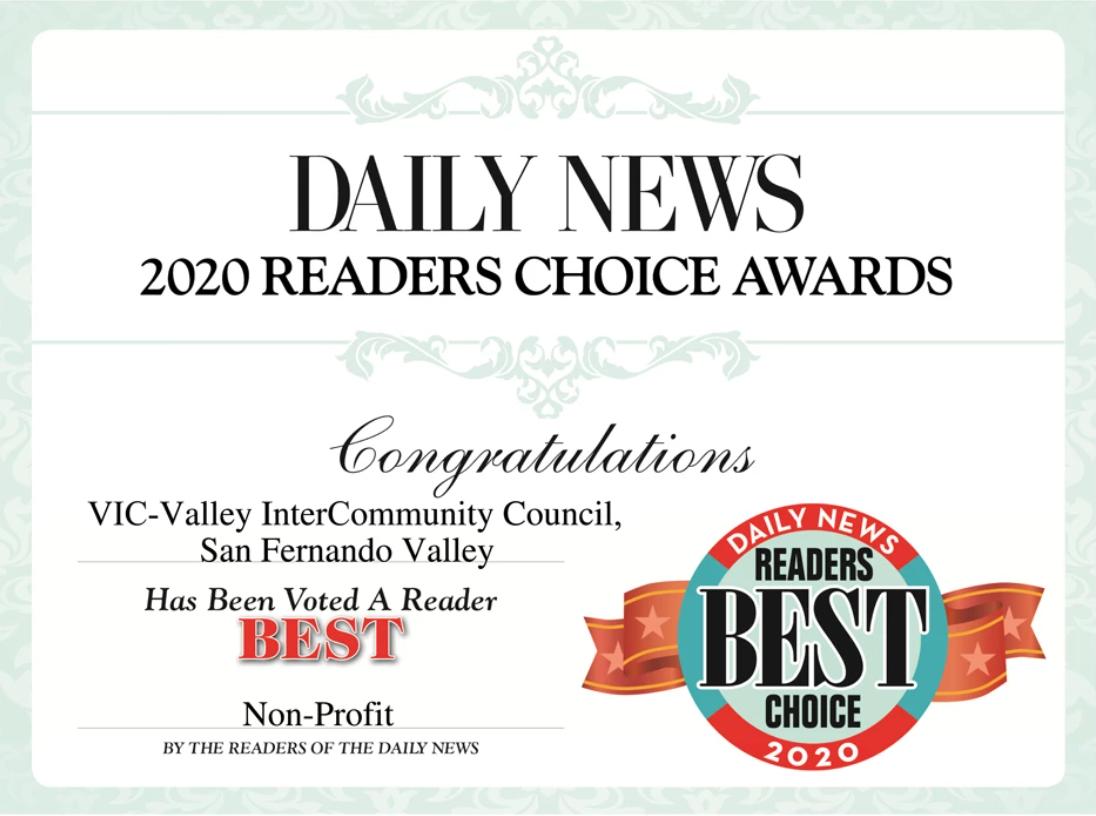 Daily News Readers Choice Award
