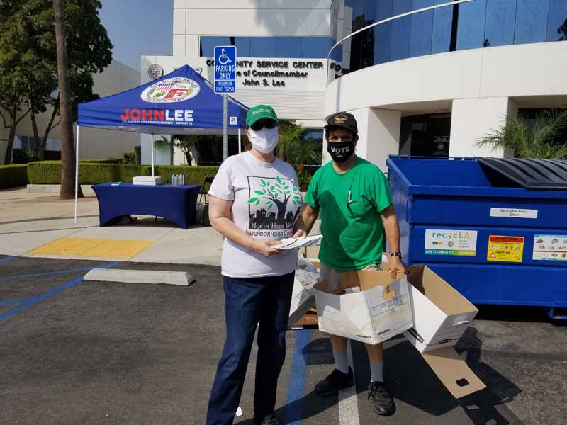2020.09.26 Carol & David H at CD 12 Constituent Office Secure Shredding Event Representing NHWNC