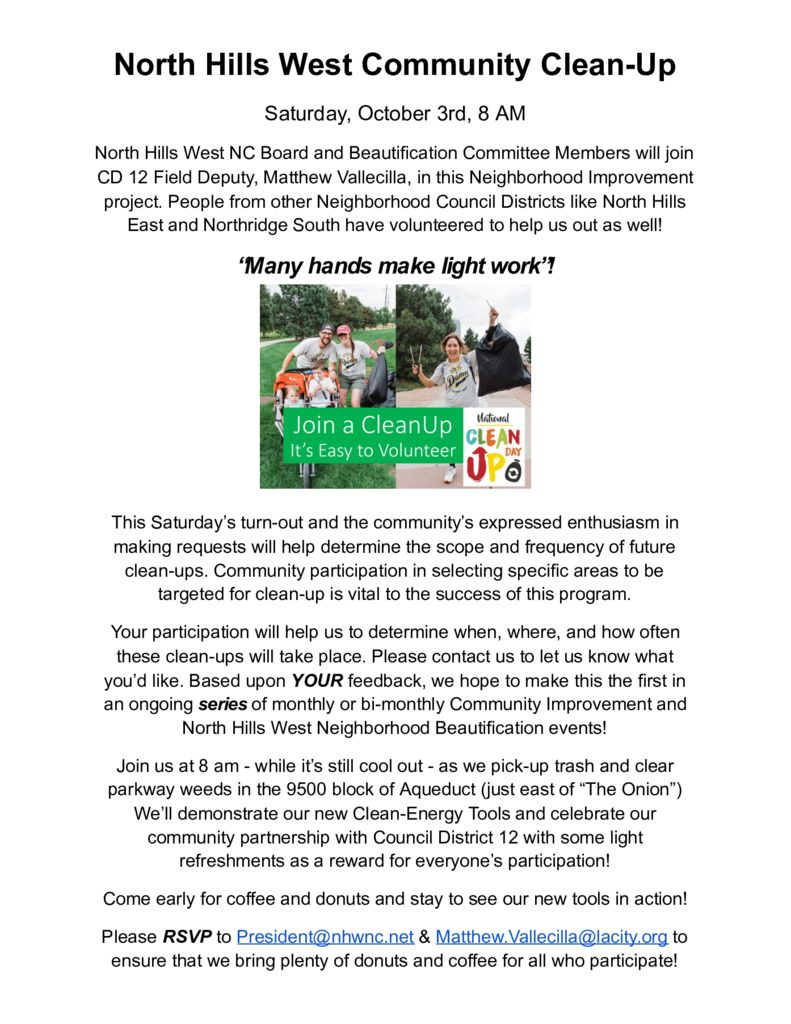 thumbnail of North Hills West Community Clean-Up Flier 10-3-2020 – Google Docs